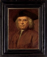 portrait of a gentleman in a brown coat and tricorn by gerard jan palthe