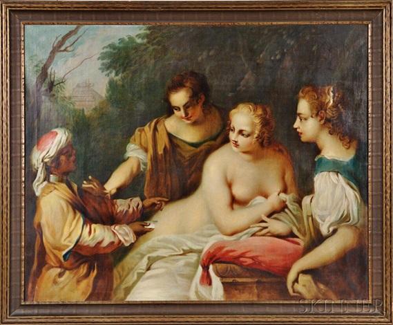 The Messenger Bathsheba at her Bath by Jacopo Amigoni on artnet
