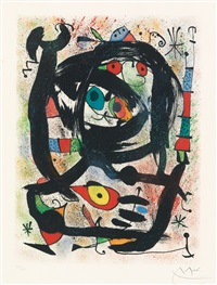 lithograph for the county museum of art, los angeles by joan miró