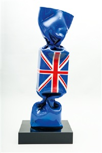wrapping flag candy great britain by laurence jenkell