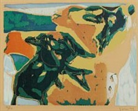 composition from the cobra portfolio by asger jorn