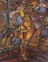 kubistischer akt by liubov popova