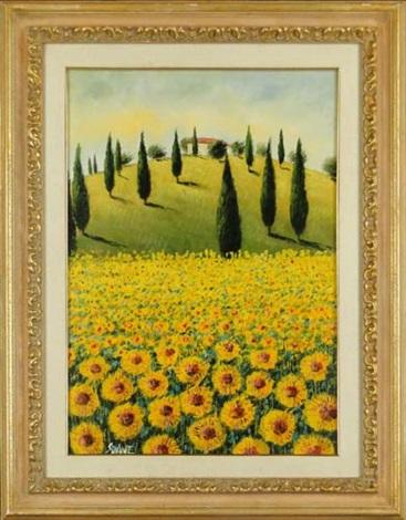 paysage de toscane girasoli by mario soave