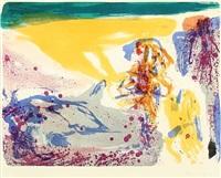 composition from the series von kopf bis fuss by asger jorn