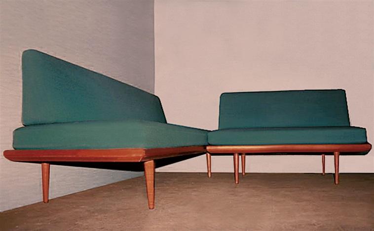 daybed und 2er sofa pair by peter hvidt on artnet. Black Bedroom Furniture Sets. Home Design Ideas