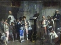 choristers at seville cathedral by francisco-javier amerigo y aparici