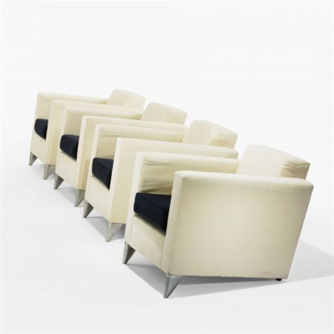 Philippe Starck Len set of four len niggelman lounge chairs by philippe starck on artnet