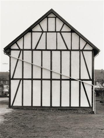 fachwerkhäuser (6 works) by bernd and hilla becher