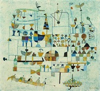 composition with figures and signs by maar julius lange