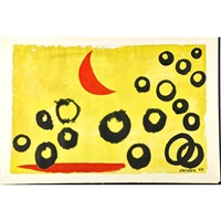 the yellow sky by alexander calder