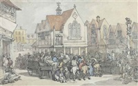 at the pillary, newbury, berkshire by thomas rowlandson