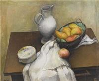 stillleben mit früchtekorb by abram adolphe milich