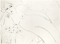 nude and flowers (reclining nude) by walasse ting