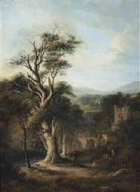 the old oak of aberdour, fife by alexander nasmyth