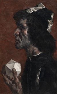 hombre del poliedro by manuel monedero
