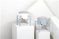 coppia di sgabelli (2 works) by ginevra grilz and fabrizio alborno