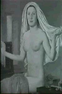 weiblicher halbakt by viktor hammer