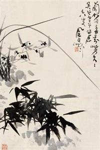 兰竹图 立轴 纸本 by jiang fengbai