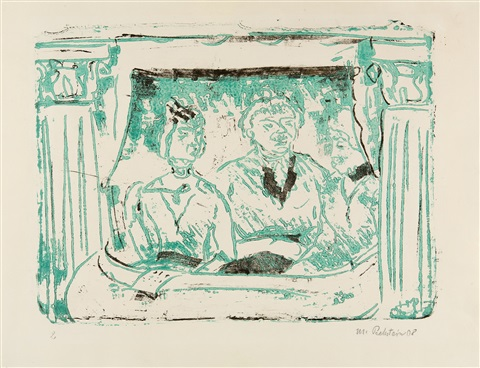 in der loge by max pechstein