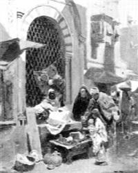 arab market scene by raphael von ambros