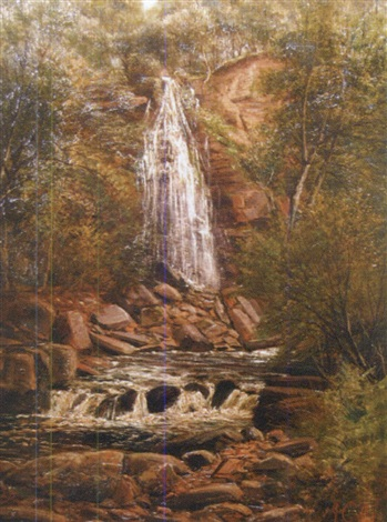 mallyan spout waterfall goathland by john gunson atkinson