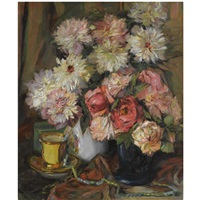 still life with flowers by georg oskarovich shlicht