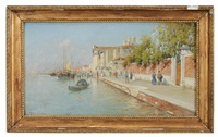 by the grand canal venice by rafael senet y perez