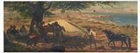 halte de cavaliers arabes by alfred couverchel
