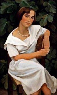 joven con vestido blanco by rafael argeles y escriche