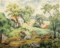 spring landscape by russell cowles