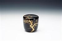 tea caddy by hosai yamashita