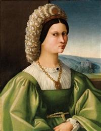 bildnis einer dame in grünem gewand by antonio d' ubertino verdi