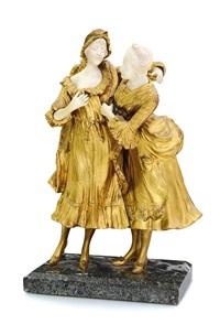 due dame intente a vestirsi by xavier raphanel