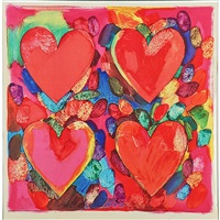 four hearts (from record with rory mcewen) by jim dine