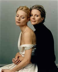 gwyneth paltrow and blythe danner, vancouver by annie leibovitz