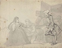 mr screwdown the undertaker and a widow by thomas rowlandson