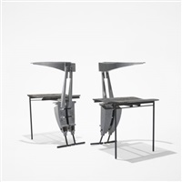 pair of nee chairs by thom mayne