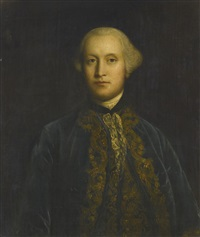 portrait of a gentleman in blue by joshua reynolds