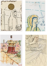 untitled (4 works) by martin kippenberger