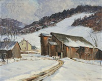 winter barn by robert shaw wesson