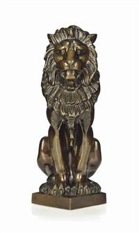 lion sejant by alfred stevens