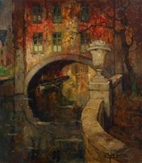 pont en automne by louis rigaux