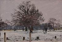 snow in bushey park i by ken howard