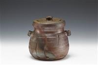 ceremony water jar by mitsuru isezaki