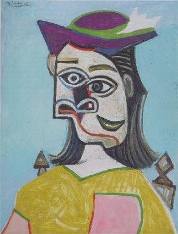 Buste de femme assise sur une chaise by Pablo Picasso on artnet