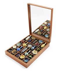 casket with 24 miniatures (set of 24) by berndt friberg
