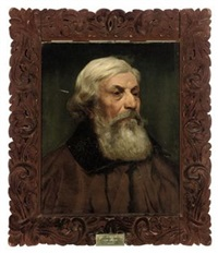 portrait of an italian gentleman in a brown coat by thomas bowman garvie