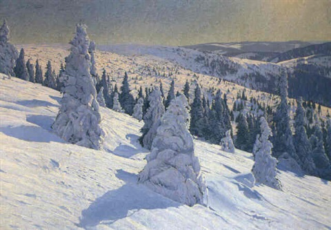 wintermorgen am feldberg by hermann dischler
