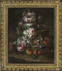 natura morta con fiori e frutta by vittorio amedeo rapous