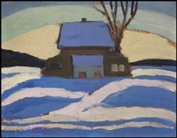 the barn in winter by sarah margaret armour robertson